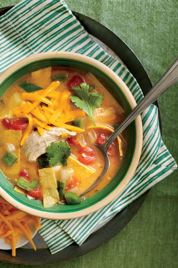 Shortcut rotisserie chicken recipes southern living king ranch chicken soup forumfinder Image collections