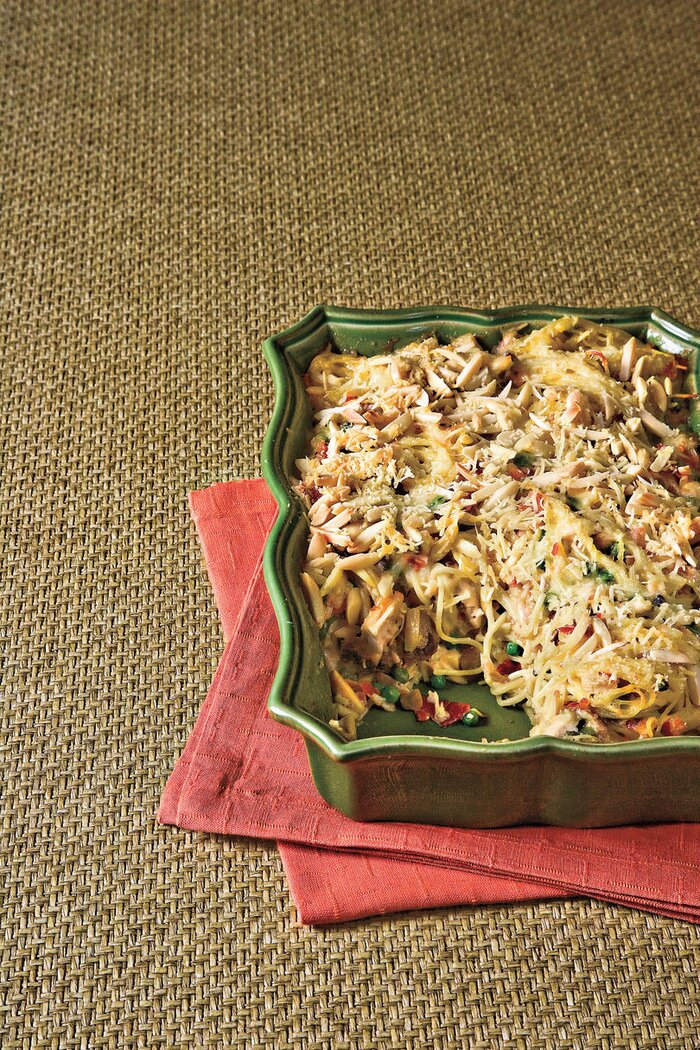 Shortcut rotisserie chicken recipes southern living rotisserie chicken recipes chicken tetrazzini with prosciutto and peas forumfinder Choice Image