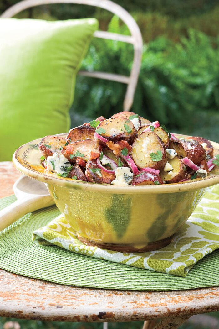 Our best barbecue side dish recipes southern living big daddys grilled blue cheese and bacon potato salad forumfinder Images