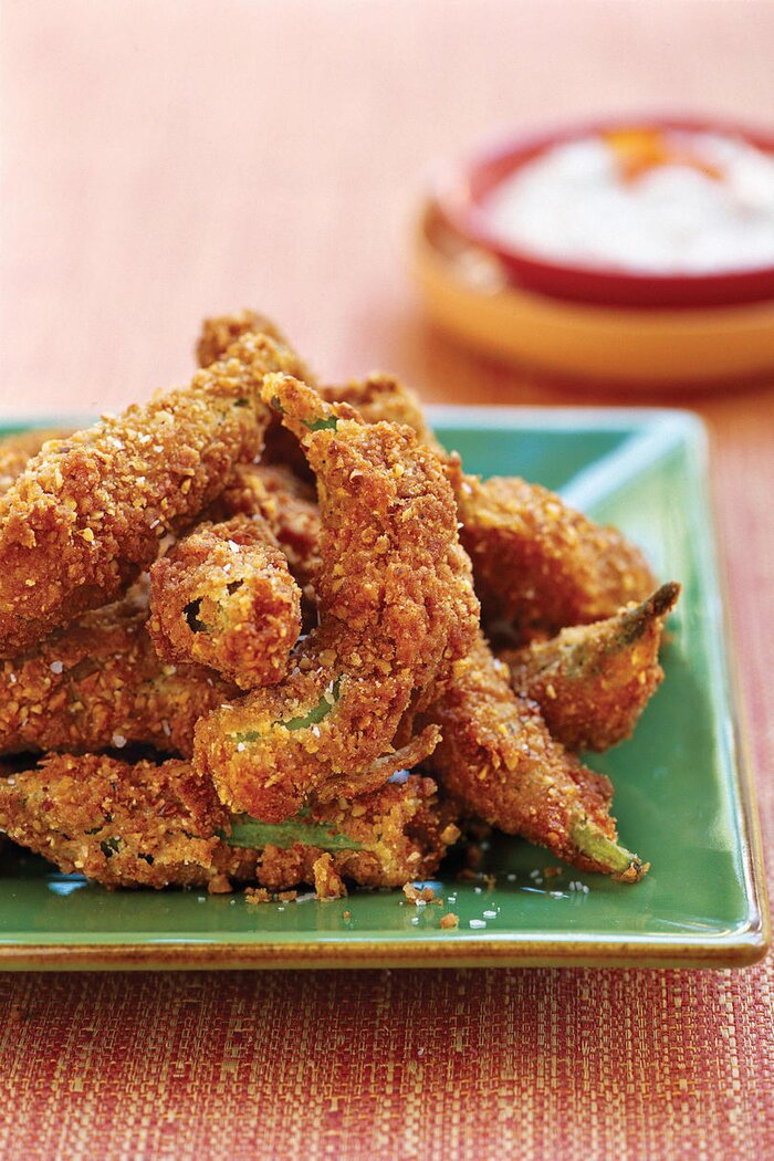 12 best okra recipes southern living fried pecan okra forumfinder Choice Image