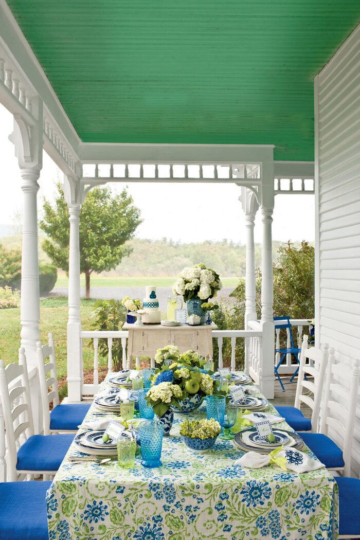 Spring Porch Table Setting Ideas - Southern Living