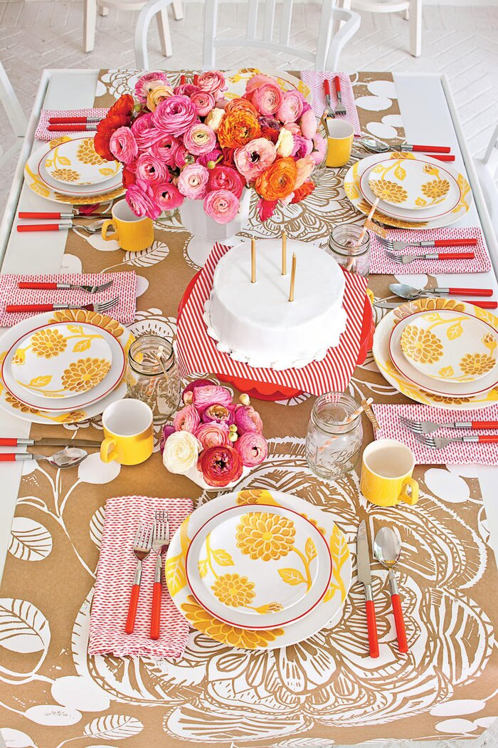 Cheery Birthday Table Setting - Southern Living