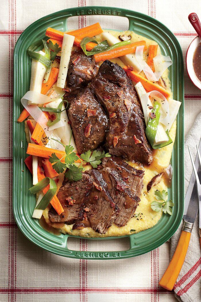 101 best classic comfort food recipes southern living company pot roast with creamy mushroom grits forumfinder Image collections
