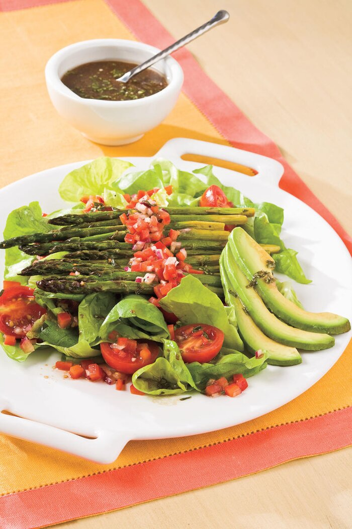 Healthy food recipes colorful nutritious fruits and vegetables healthy food recipe roasted asparagus salad forumfinder Gallery