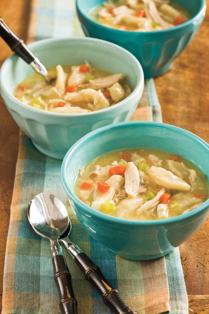 Quick holiday dinner recipe ideas southern living easy chicken and dumplings forumfinder Choice Image
