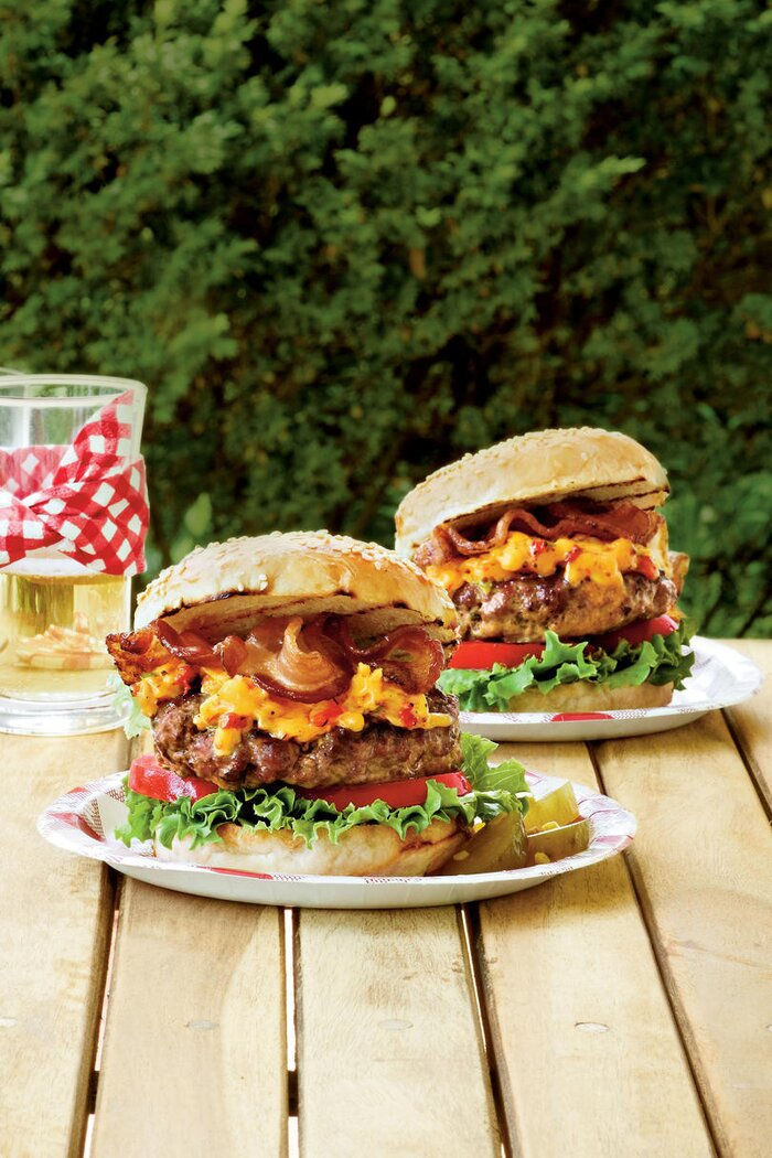 Man food recipes southern living pimiento cheese bacon burgers forumfinder Images