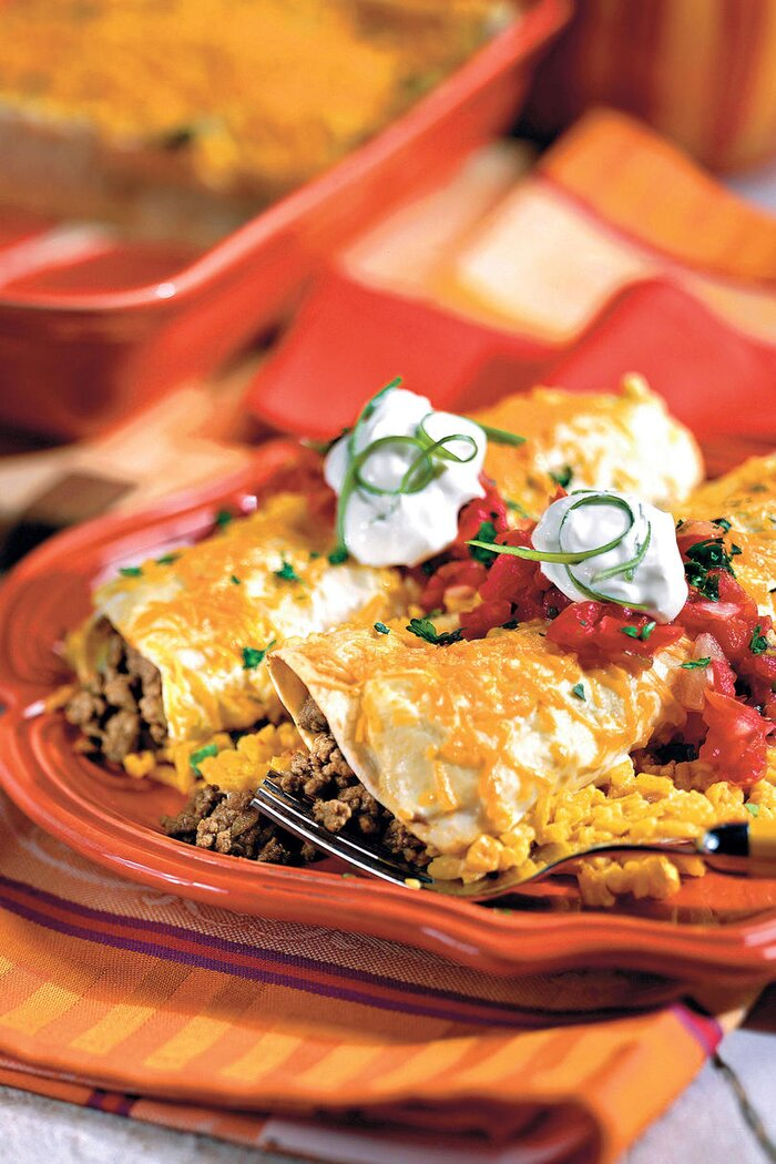 40 quick ground beef recipes southern living ground beef recipes smothered enchiladas forumfinder Images