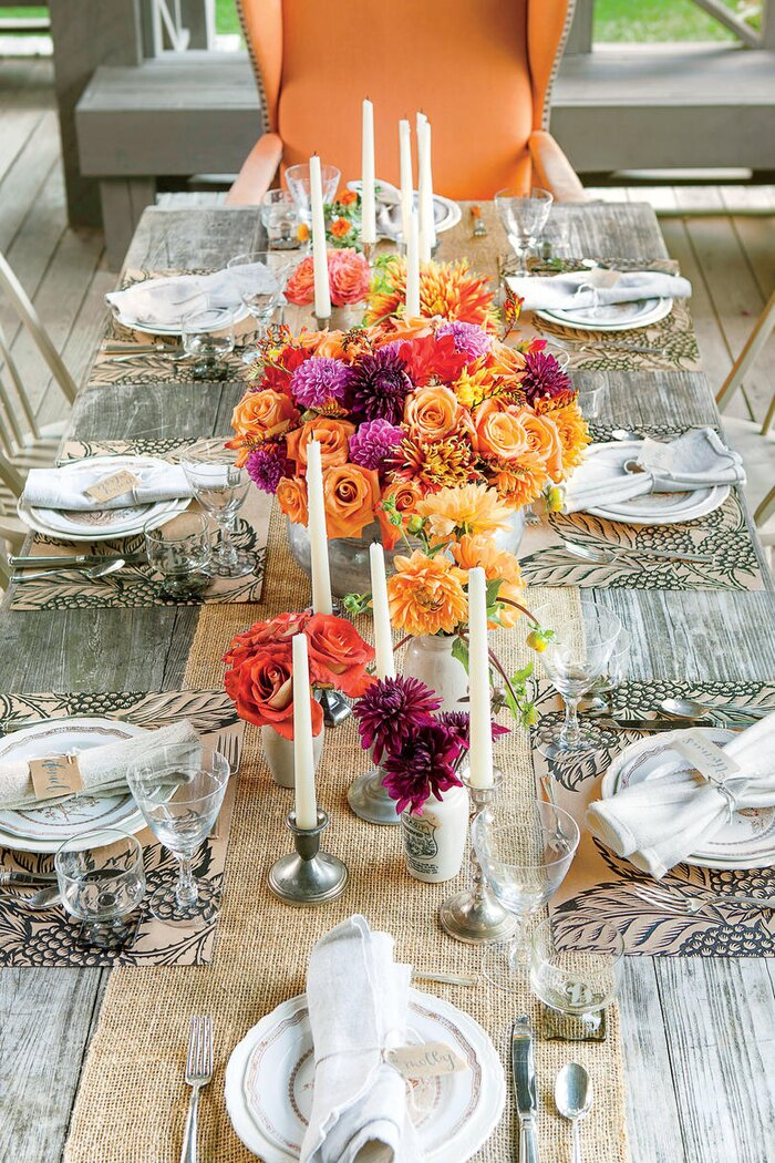 Rustic Outdoor Table Setting - Southern Living