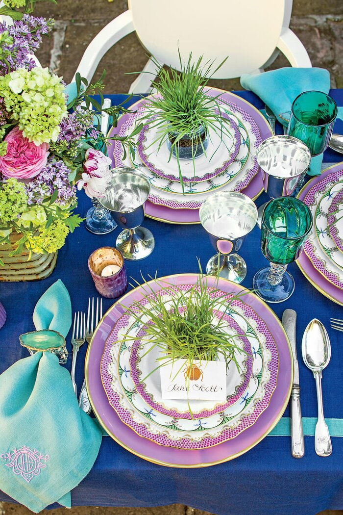 Spring Table Settings and Centerpieces - Southern Living