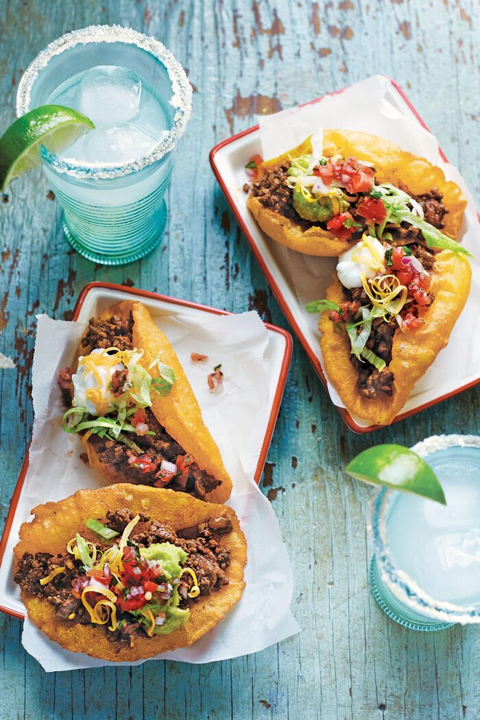 40 quick ground beef recipes southern living san antonio beef puffy tacos forumfinder Gallery