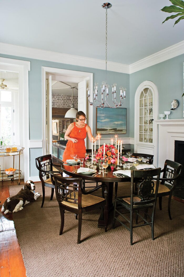 Charleston Home Dining Room Filled With Southern Hospitality