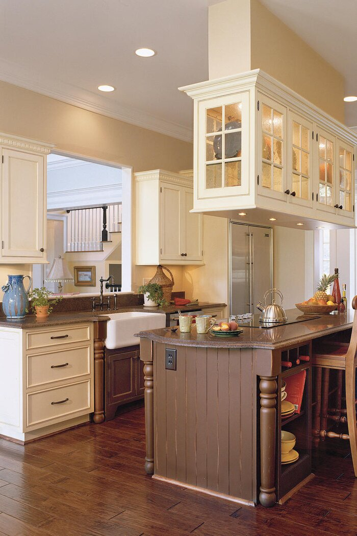 Antique-White Kitchen