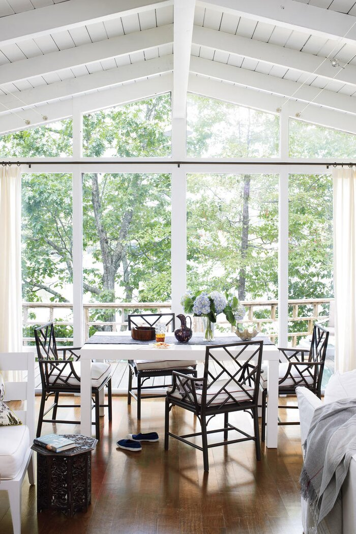 home decor dining room. White Painted Home Decor  Dining Area After Southern Living