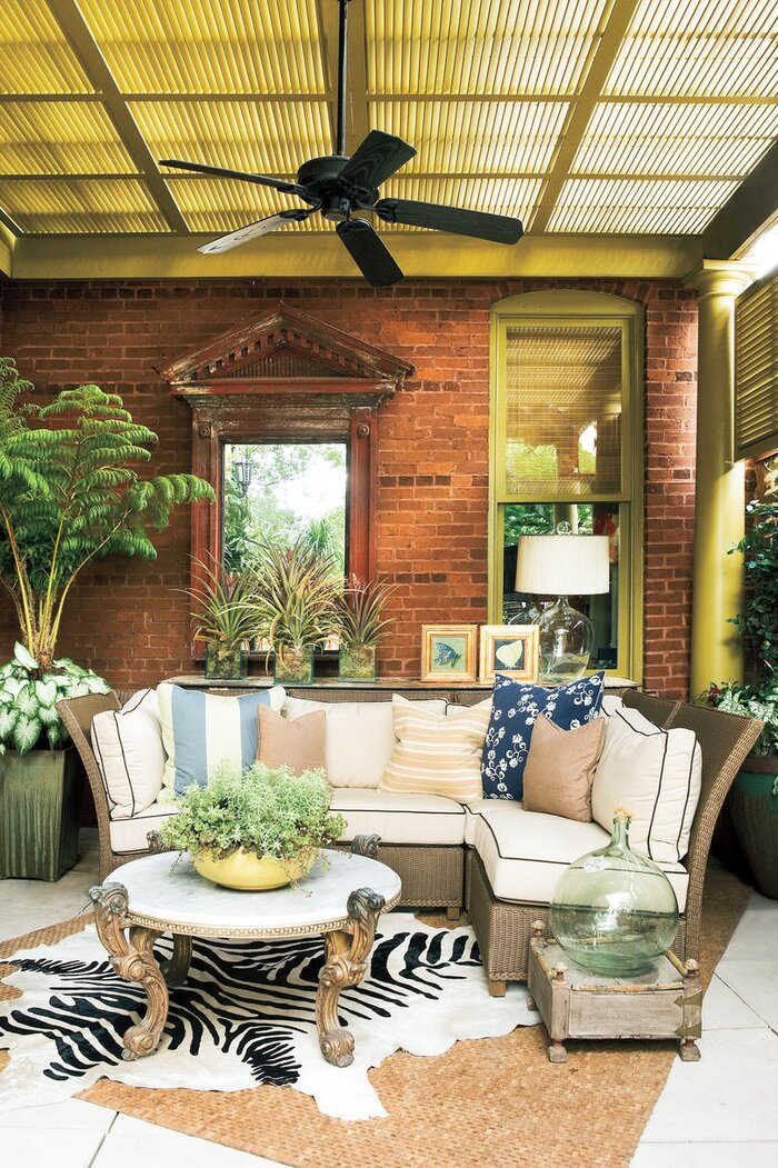 porch decorating ideas southern porch - Patio Decorating Ideas