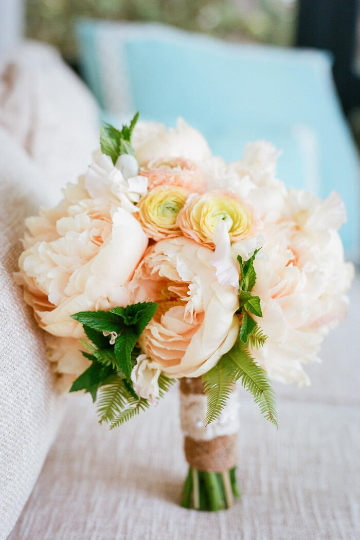 Sweet as spring wedding flowers southern living pale peach peony bouquet mightylinksfo