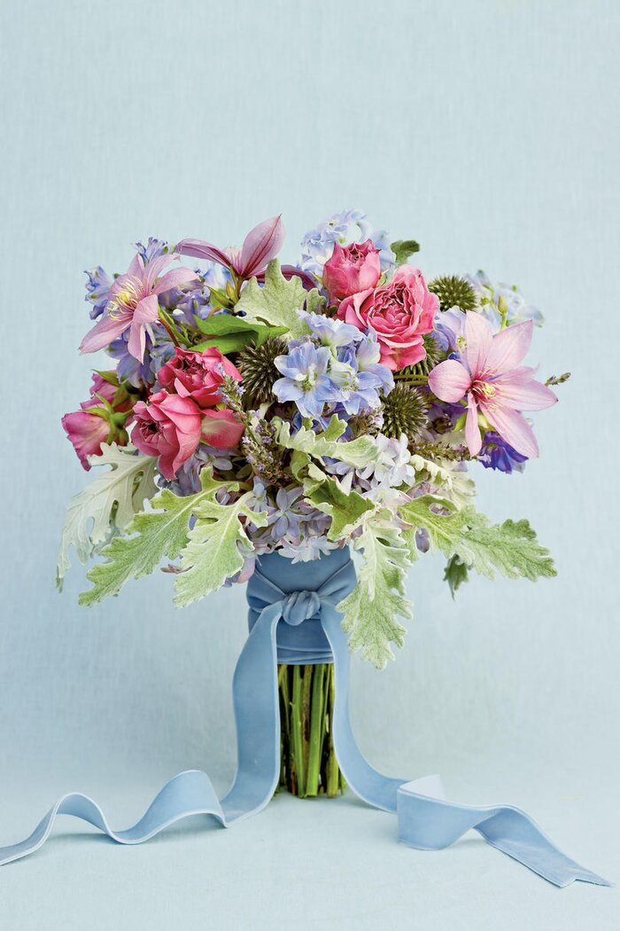 Blue wedding flowers southern living organic blue and lavender blooms junglespirit Choice Image