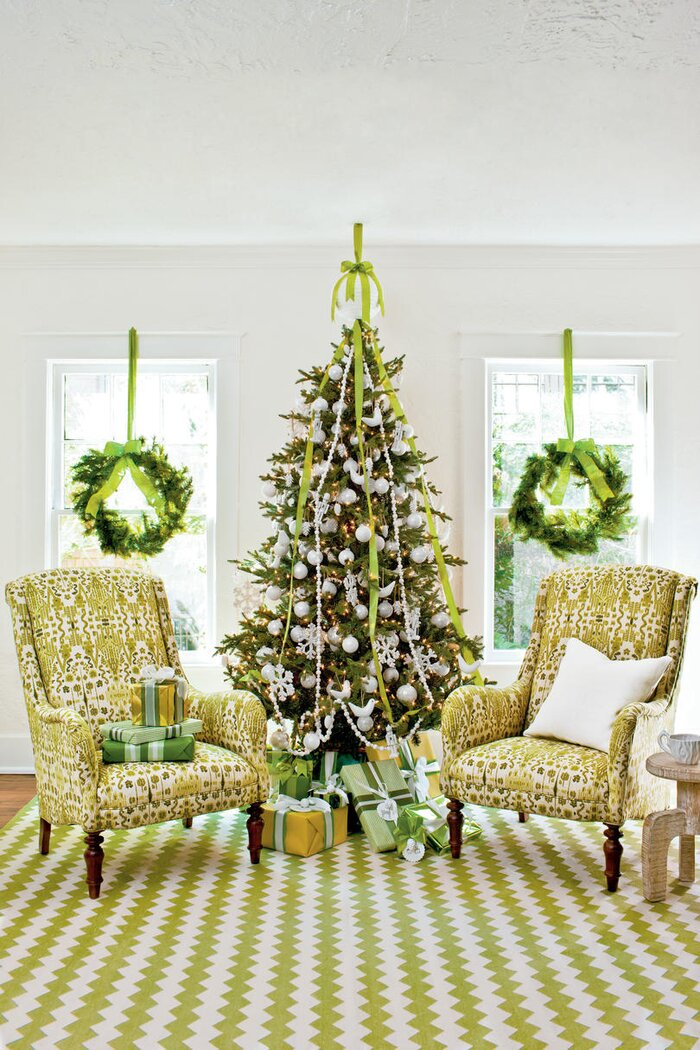 Fabulously festive christmas tree decorations southern living fresh green christmas tree decorations publicscrutiny Image collections