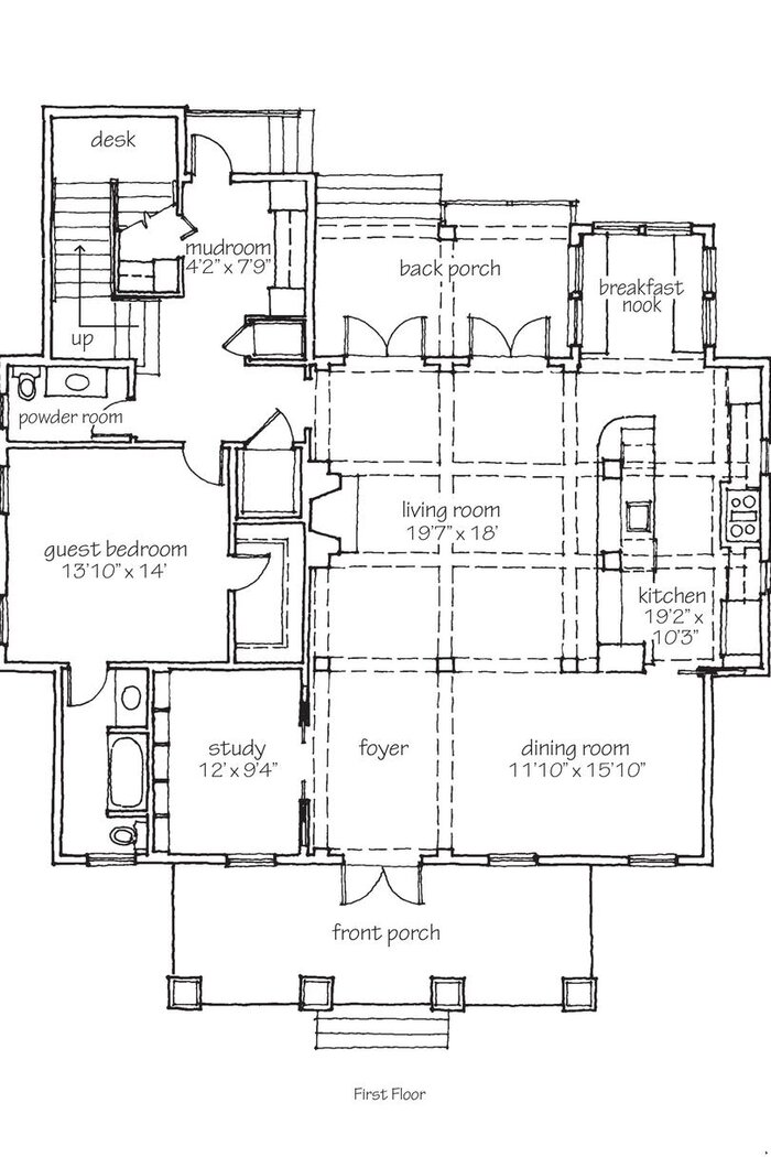 Southern Living Idea House 2010 Bayou Bend Floor Plans - Southern Living