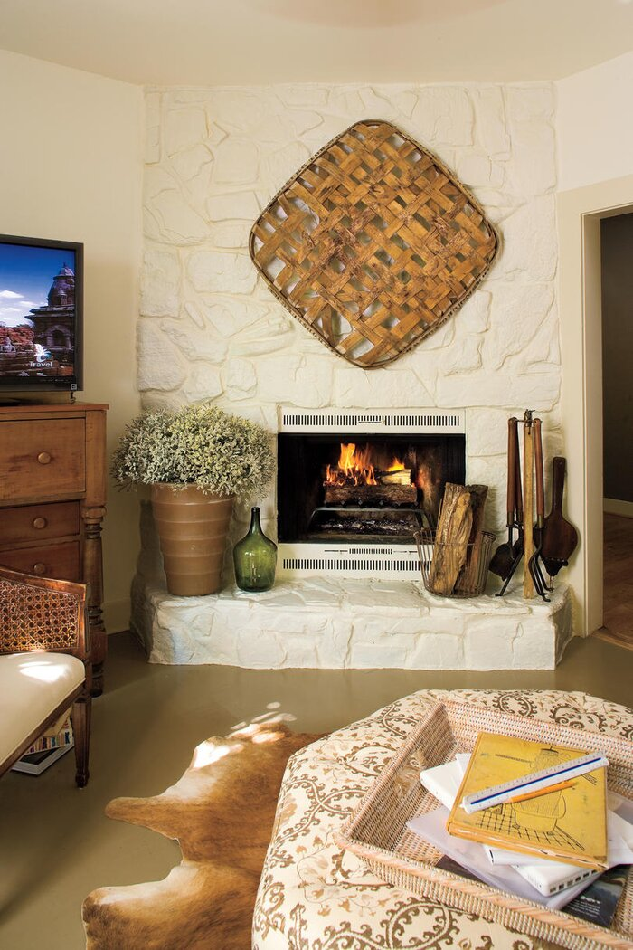 Living Room Decorating Ideas Freshly Painted Fireplace