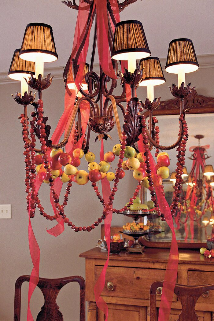 Merry and bright chandeliers southern living apple cranberry chandelier mozeypictures Gallery