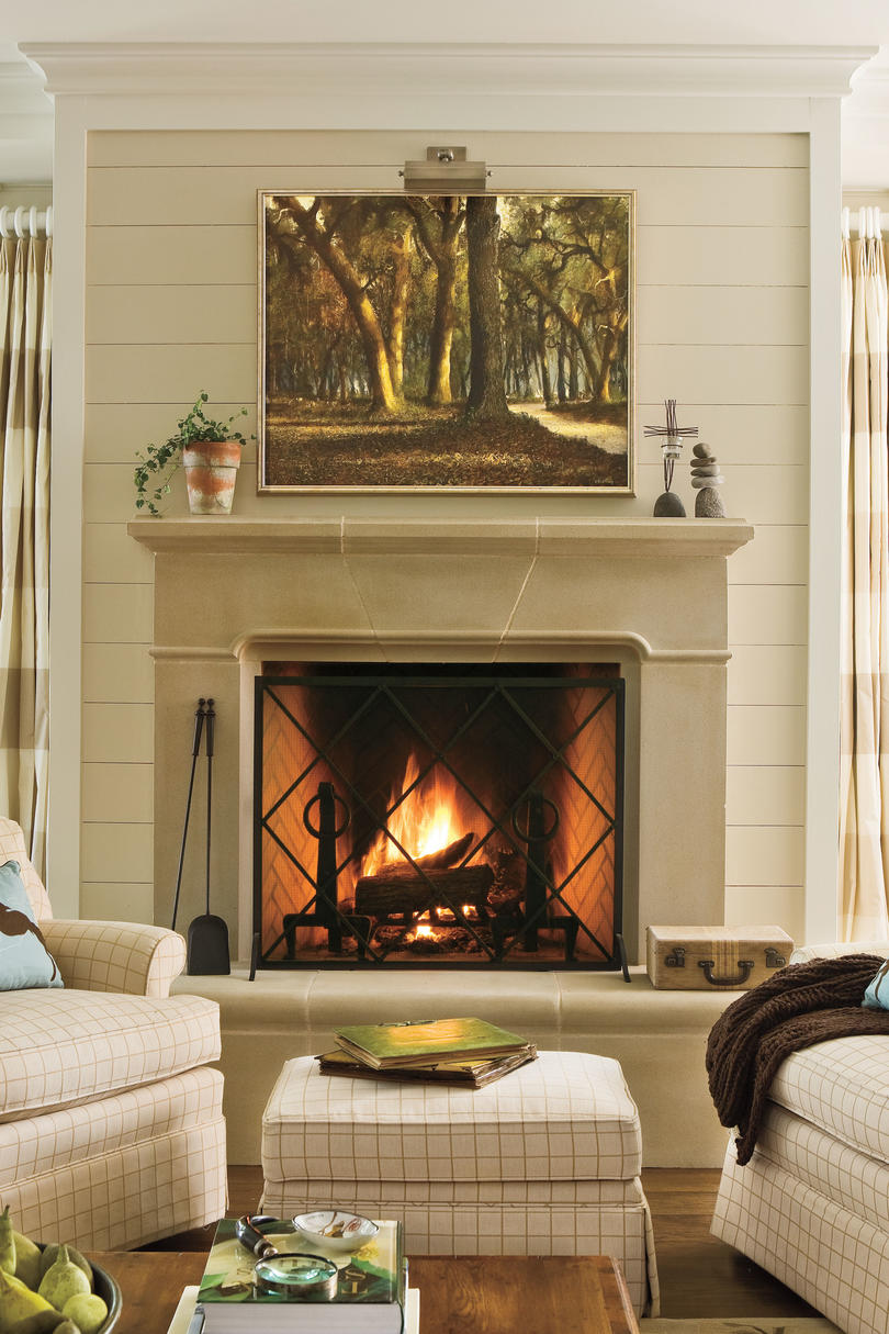 25 cozy ideas for fireplace mantels - southern living Mantel Decorating Ideas