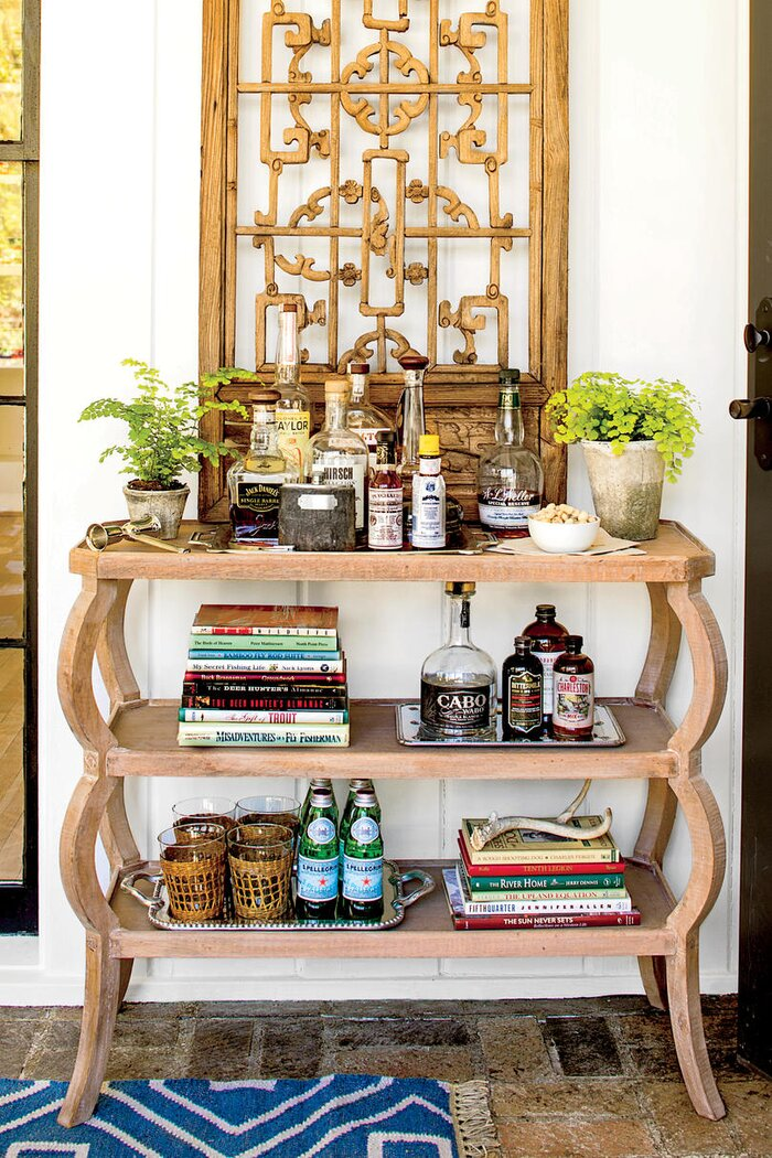 3 Shelf Bar Console