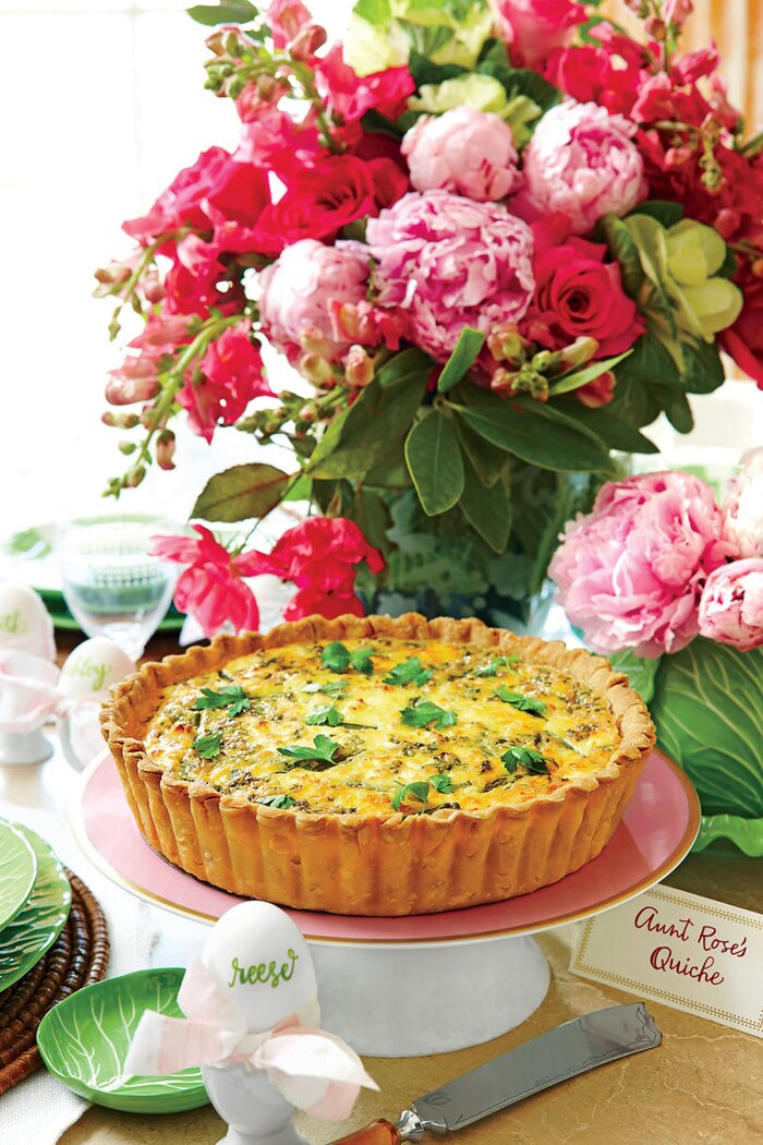 Fluffy and flavorful quiche recipes southern living asparagus spring onion and feta quiche forumfinder Choice Image