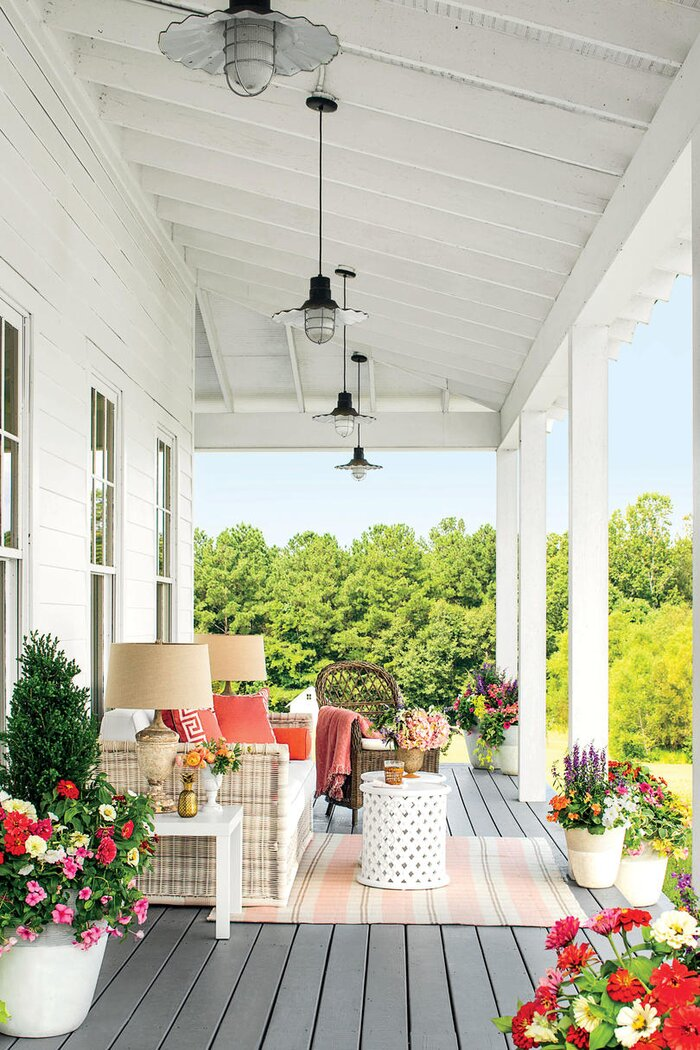 green homes design. porch club makeover  looking down Porch and Patio Design Inspiration Southern Living