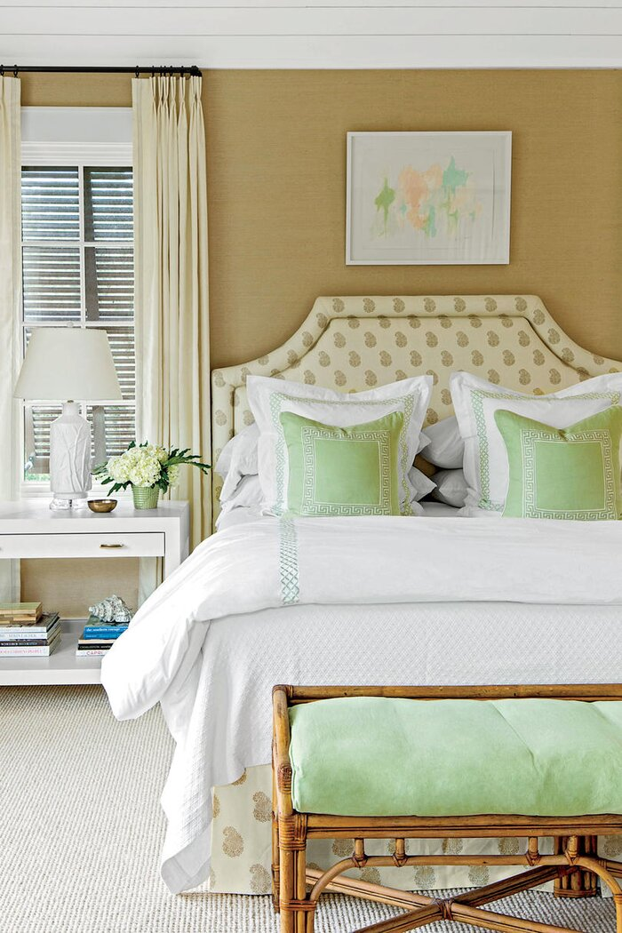 coastal bedroom with layered decor - Master Bedroom Theme Ideas