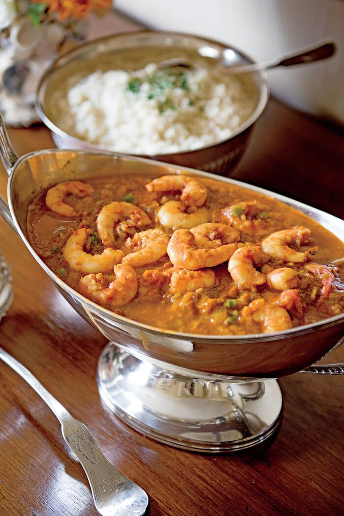 Classic mardi gras recipes southern living shrimp malacca with rice forumfinder Image collections