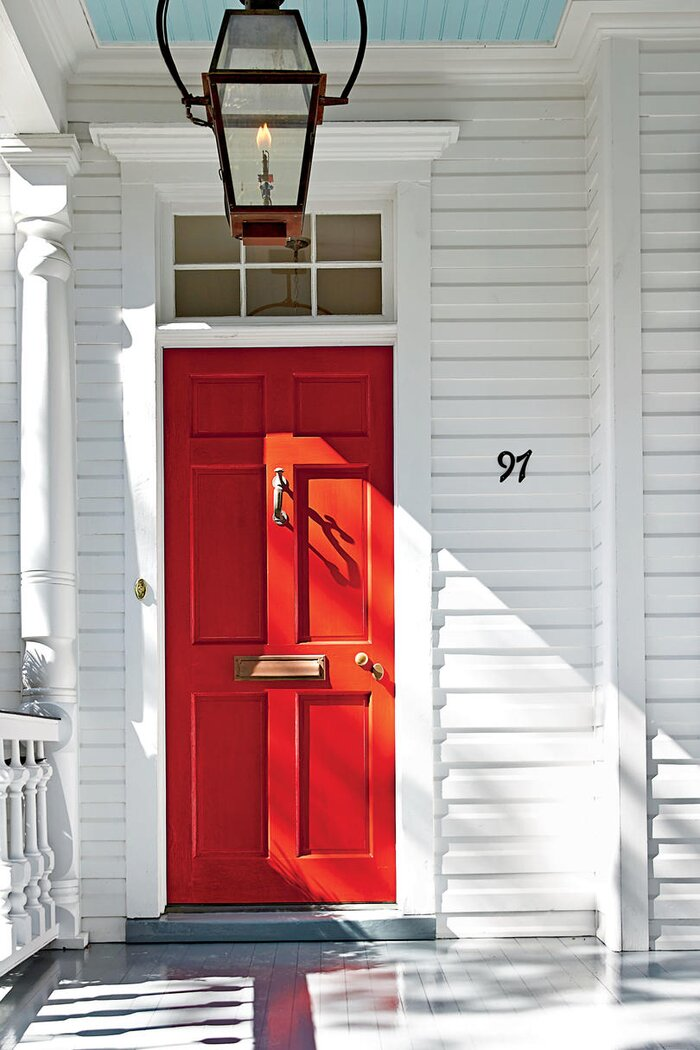 Charleston Bright Red Front Door