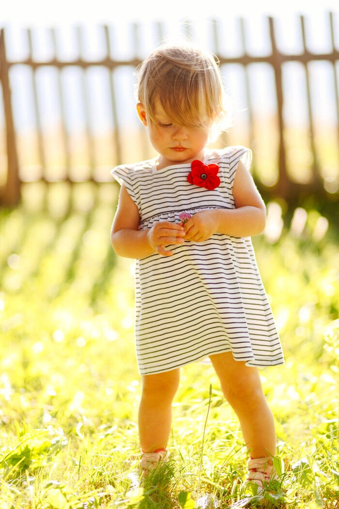 Flower names for girls that are totally charming southern living toddler in striped dress mightylinksfo