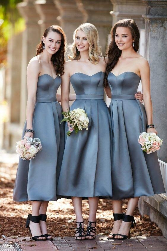 2017 Bridesmaid Dress Trends Tea Length 1