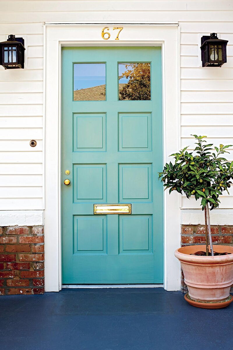 Charleston Door, Light Blue