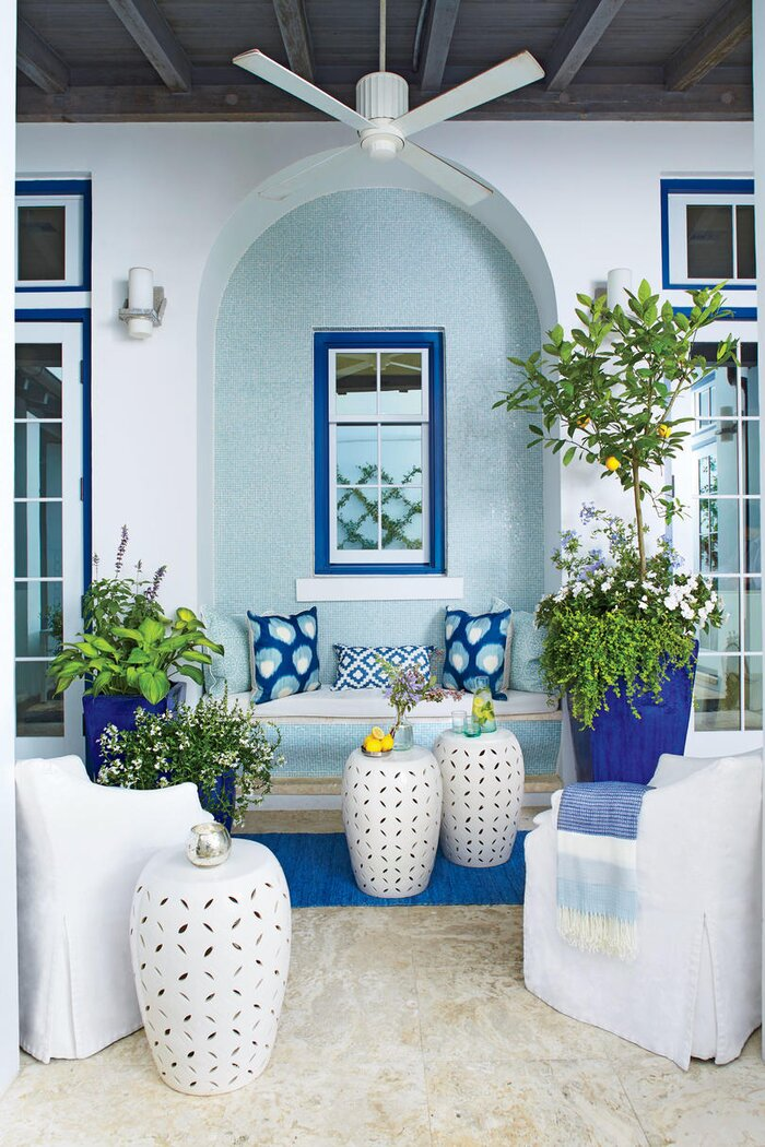 coastal blue patio - Patio Living