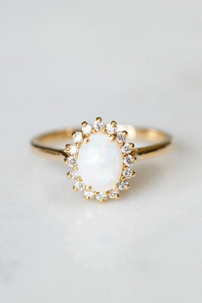 16 unique engagement rings thatll make you say i do southern opal junglespirit Gallery