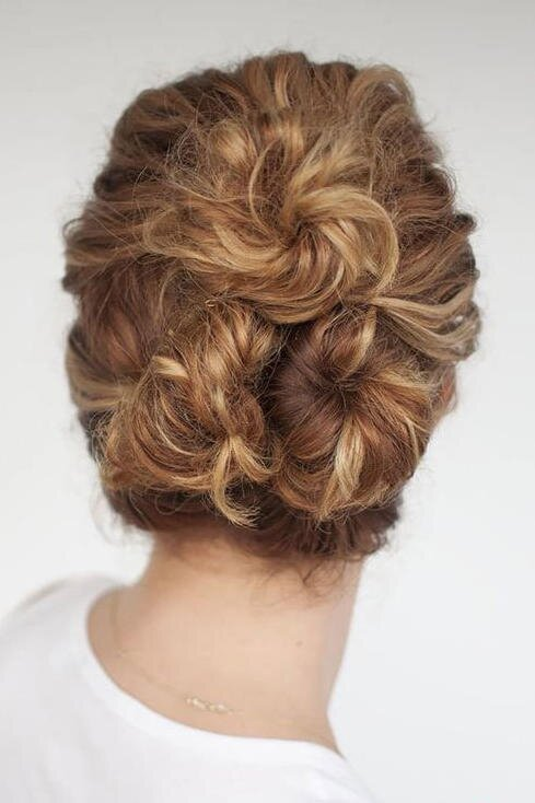 10 Festive Updos For Curly Haired Girls Southern Living