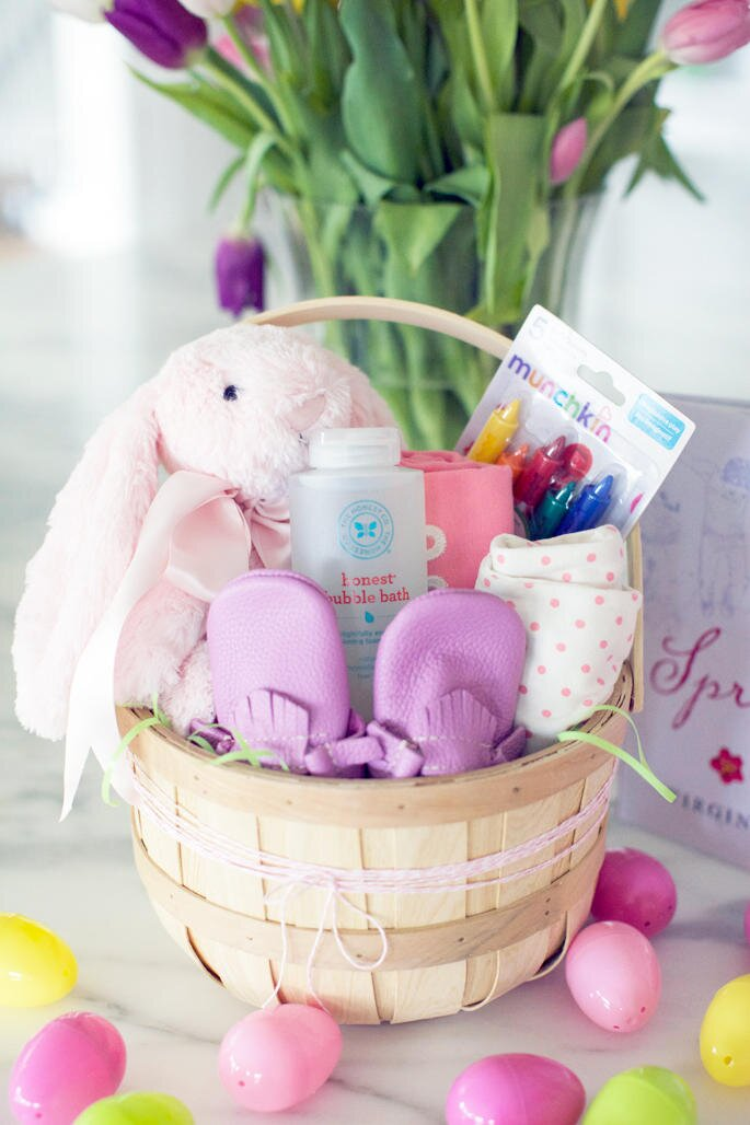 Easter basket ideas for kids teenagers and adults southern living baby girl easter basket negle Image collections