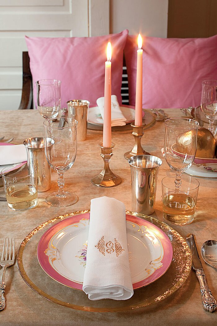 Sparkling Thanksgiving Table Setting - Southern Living