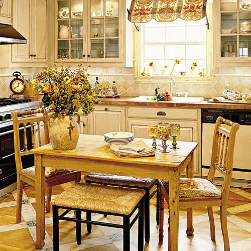 kitchen breakfast table designs. a renovated kitchen with natural wood breakfast table two chairs  creamy cabinets Kitchen Ideas and Decorating Southern Living