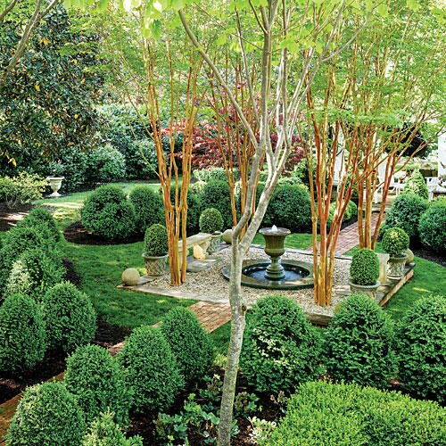 The Boxwood Parterre - All-Green Garden Design - Southern Living