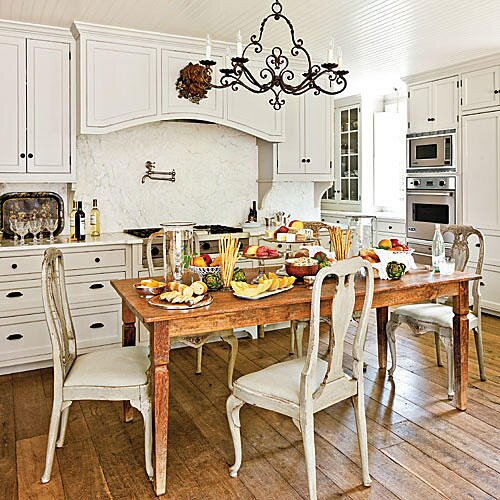 Simply beautiful farm tables southern living casual kitchen farm table workwithnaturefo