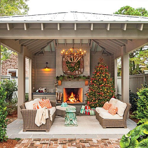 Glowing Outdoor Fireplace Ideas - Southern Living on small yard landscaping ideas, fire pit ideas, carport ideas, small garden ideas, bonus room ideas, inexpensive landscaping ideas, mailbox landscaping ideas, deck ideas, kitchen ideas, small japanese garden designs, fireplace ideas, small fountain ideas, small bedroom ideas, small pool ideas, patio ideas, small bathroom ideas, fencing ideas, small homes and cottages, small vegetable garden, small playground ideas,
