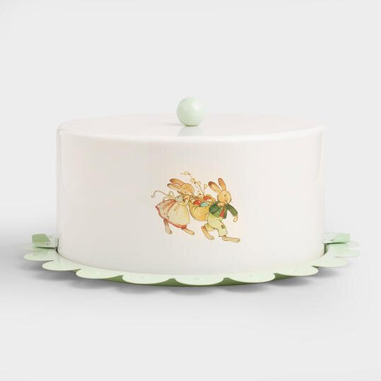 Great gifts for the easter hostess southern living nestler bunny scalloped cake carrier negle Images