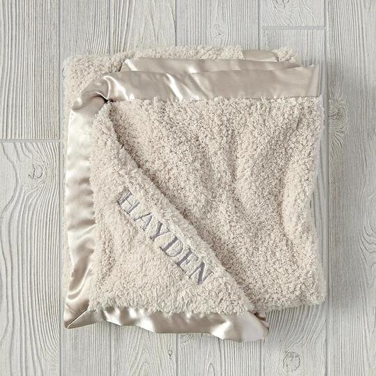 Every southern mama is going to love these monogrammed baby gifts cuddle me softly baby blanket in stone negle Gallery