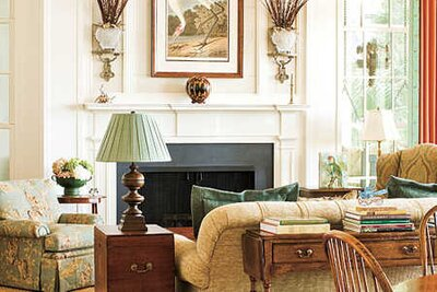 traditional family rooms - Southern Living Rooms