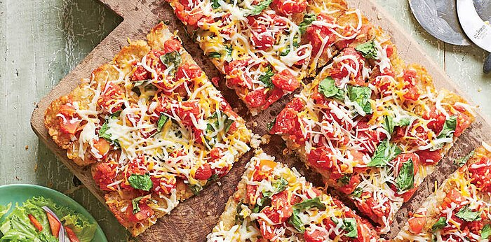 107 quick and easy dinner recipes southern living potato crusted pizza recipe forumfinder Images