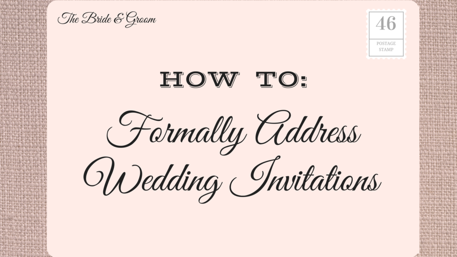 Address Wedding Invitations