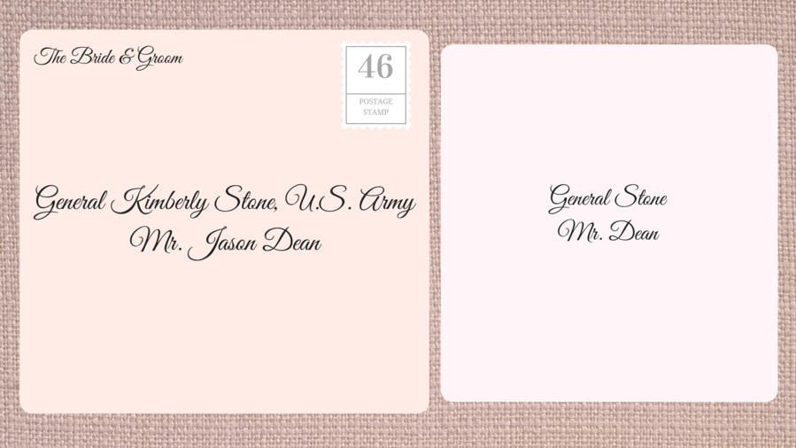 Rx 1609 Wedding Invites Double Female Military Officer