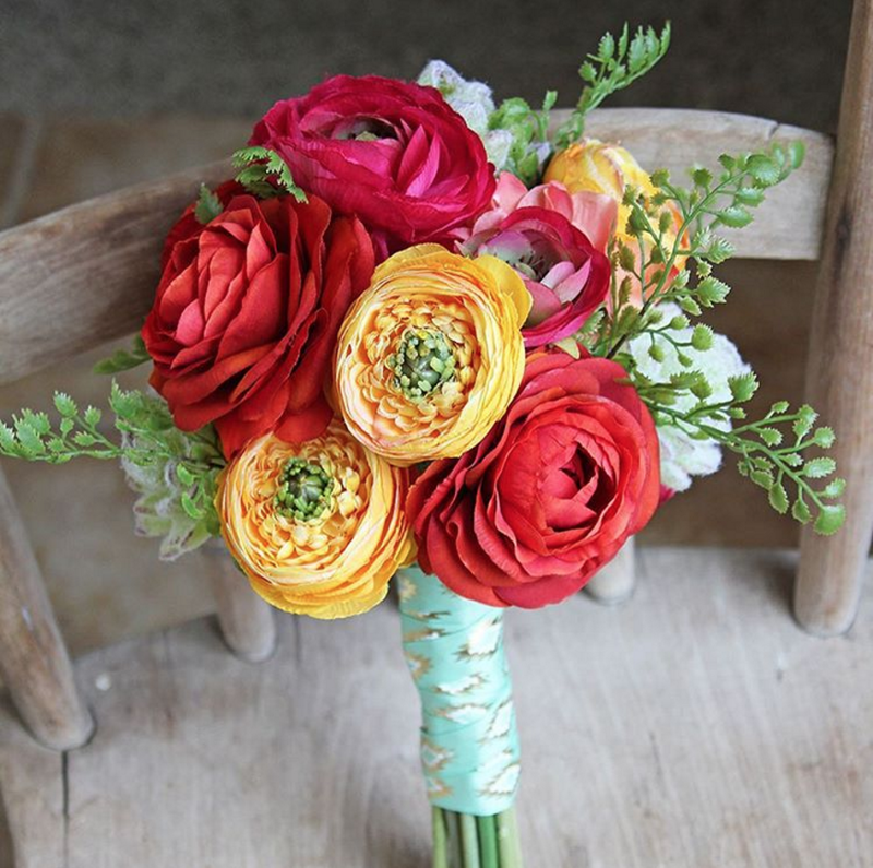 Ranunculus Wedding Bouquets Warm